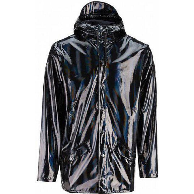 Rains Holographic Jacket Unisex - Black