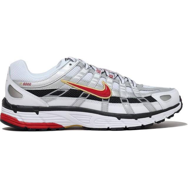 Nike P-6000 W - White/Metallic Platinum/Dark Charcoal/Varsity Red