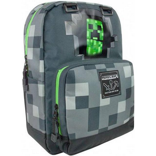 Minecraft Creepy Creeper Backpack - Grey
