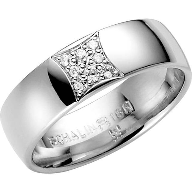 Schalins Stjärnfall Aries White Gold Ring w. Diamond