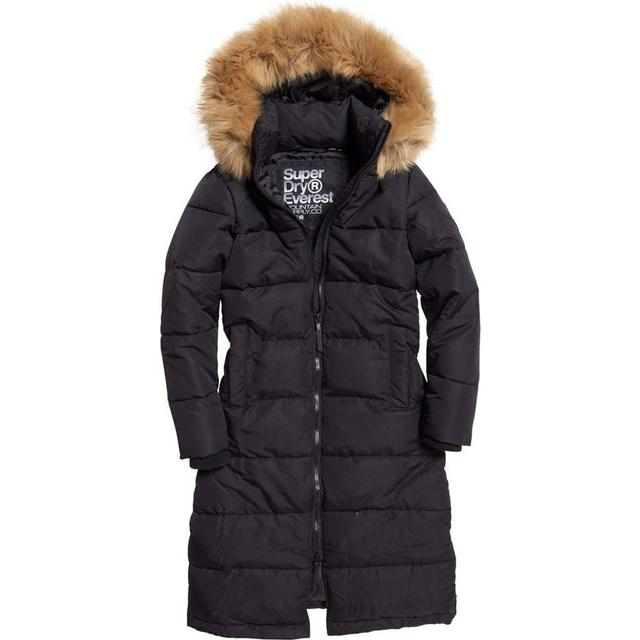 Superdry Longline Quilted Everest Jacket - Black