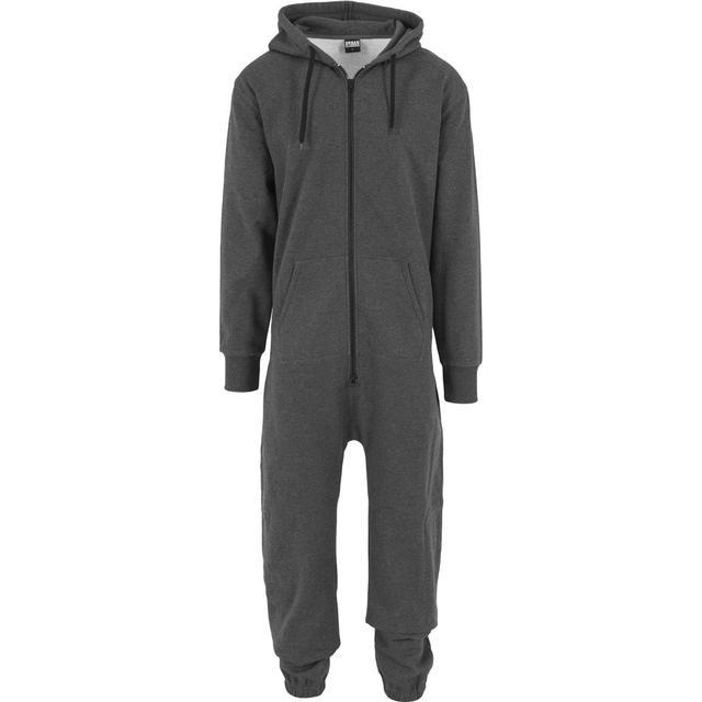 Urban Classics Sweat Jumpsuit - Charcoal/Black