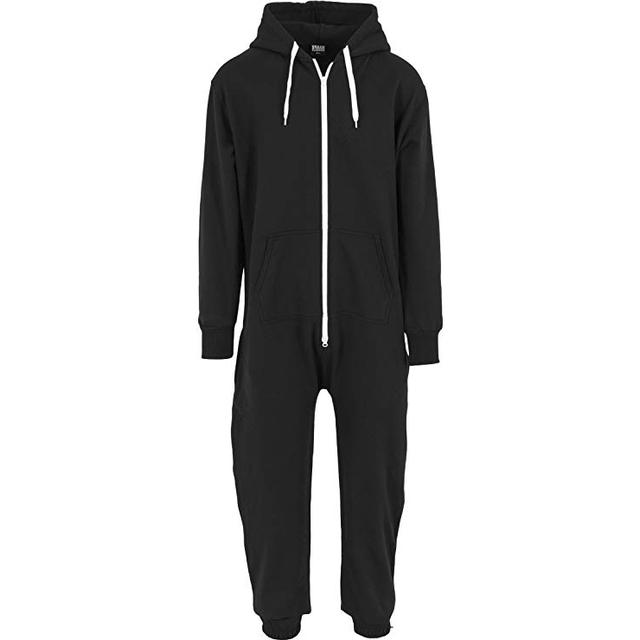 Urban Classics Sweat Jumpsuit - Black/White