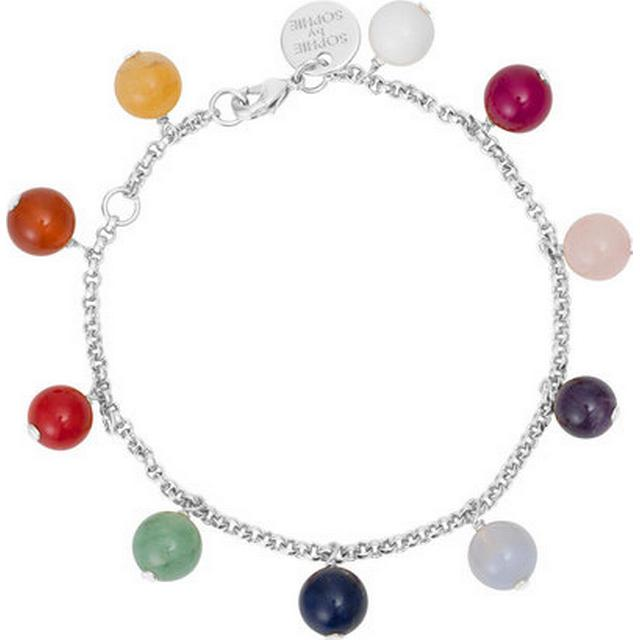 Sophie By Sophie Childhood Silver Rhodium Plated Bracelet w. Gemstones (2264)