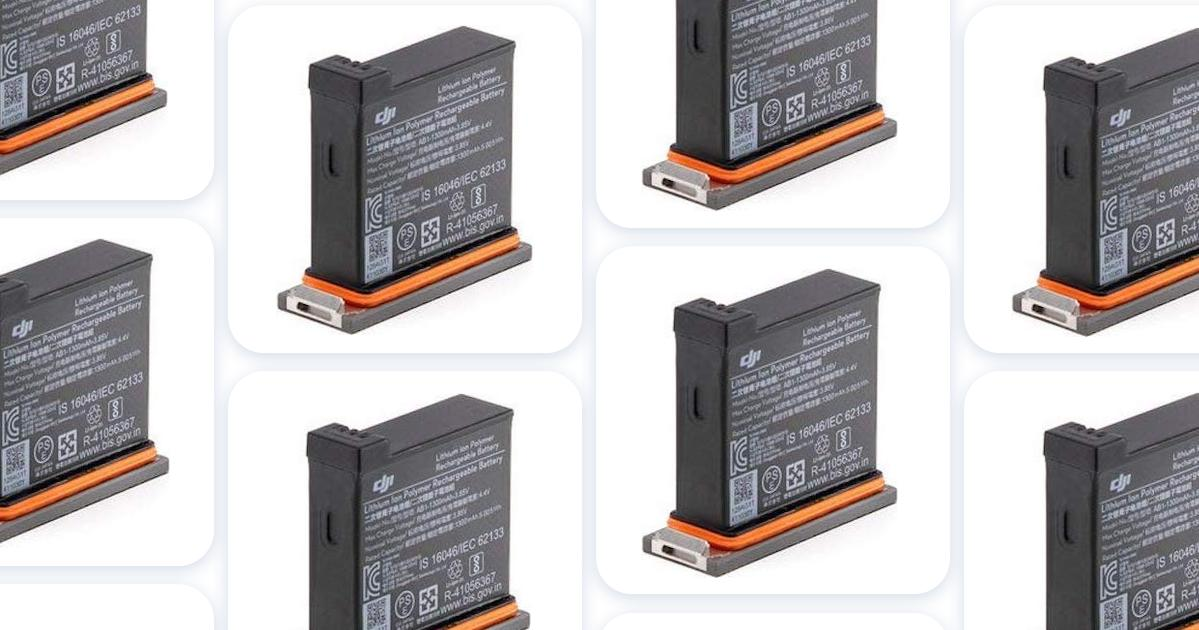 Rechargeable. Batterytec Replacement Action Camera Battery and LED ...