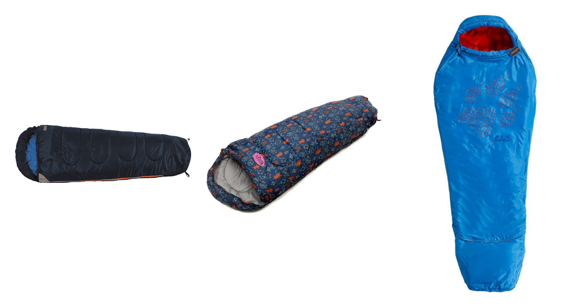 RRP £21.99 Purple Childs Easy Camp Cosmos Junior mummy-shaped Sleeping Bag